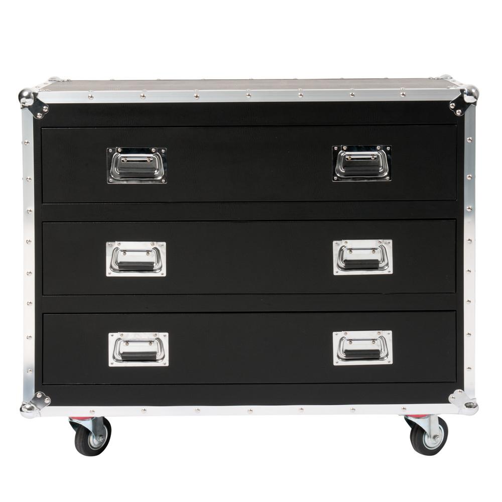 Mobiletto nero a rotelle in legno per cd dvd h 88 cm - Porta dvd in legno ...