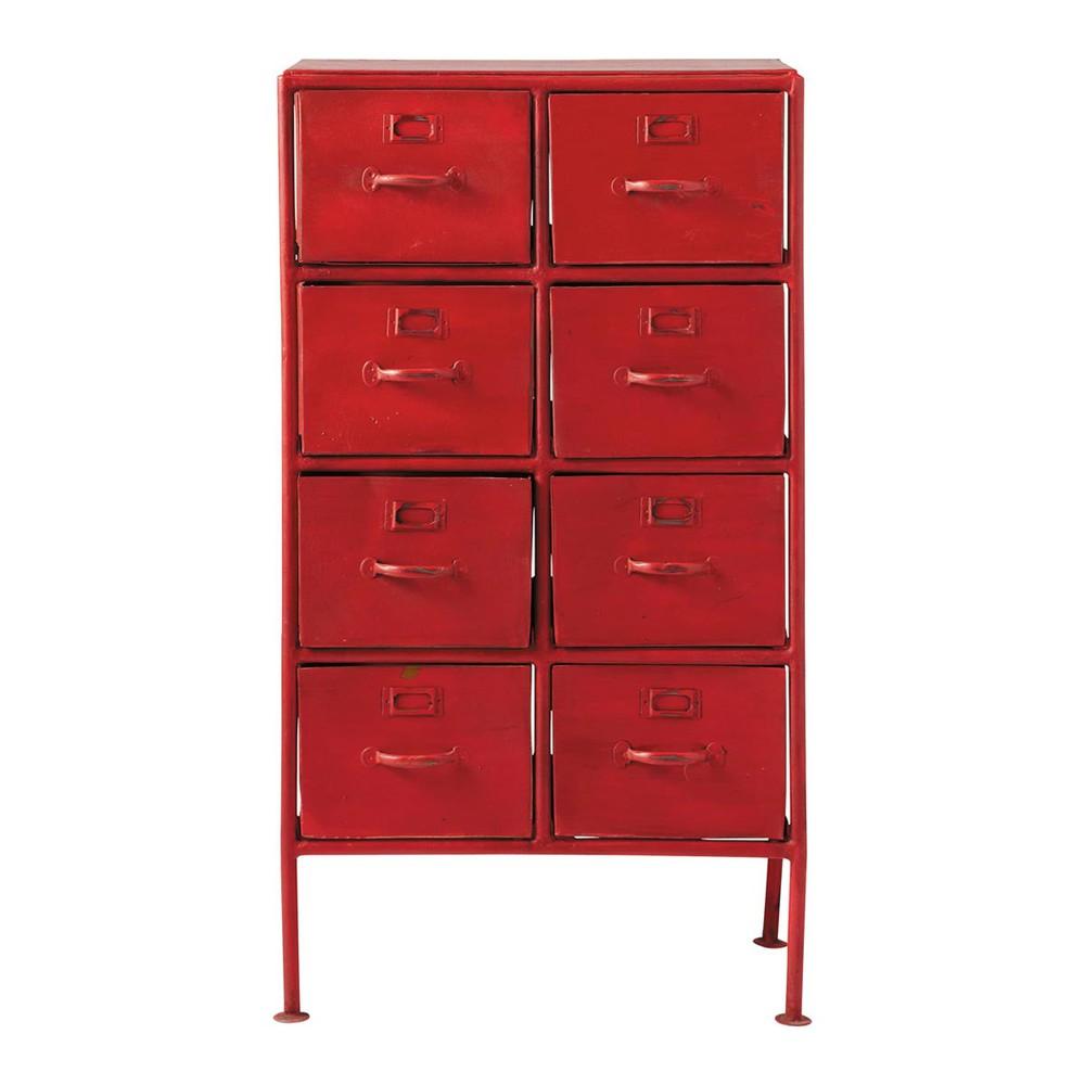 Mobiletto rosso stile industriale in metallo l 52 cm cranberry maisons du monde - Maison du monde tavolo industriale ...