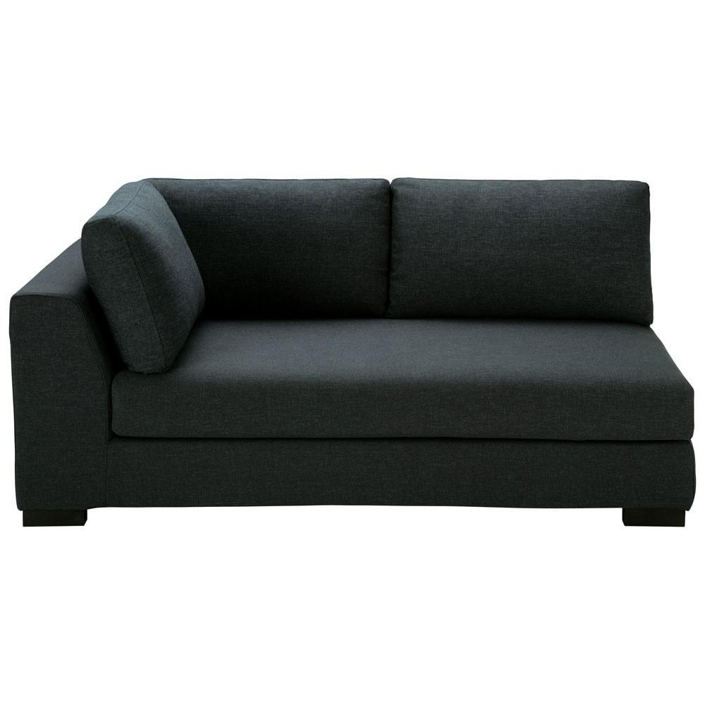 modulares sofa mit linker armlehne aus stoff monet anthrazit terence maisons du monde. Black Bedroom Furniture Sets. Home Design Ideas