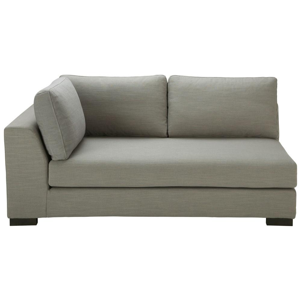 modulares sofa mit linker armlehne aus stoff monet grau terence maisons du monde. Black Bedroom Furniture Sets. Home Design Ideas