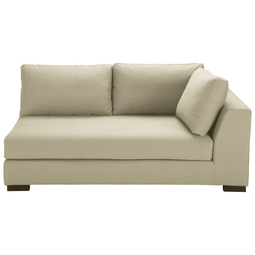 modulares sofa mit rechter armlehne aus baumwolle kittfarben terence maisons du monde. Black Bedroom Furniture Sets. Home Design Ideas