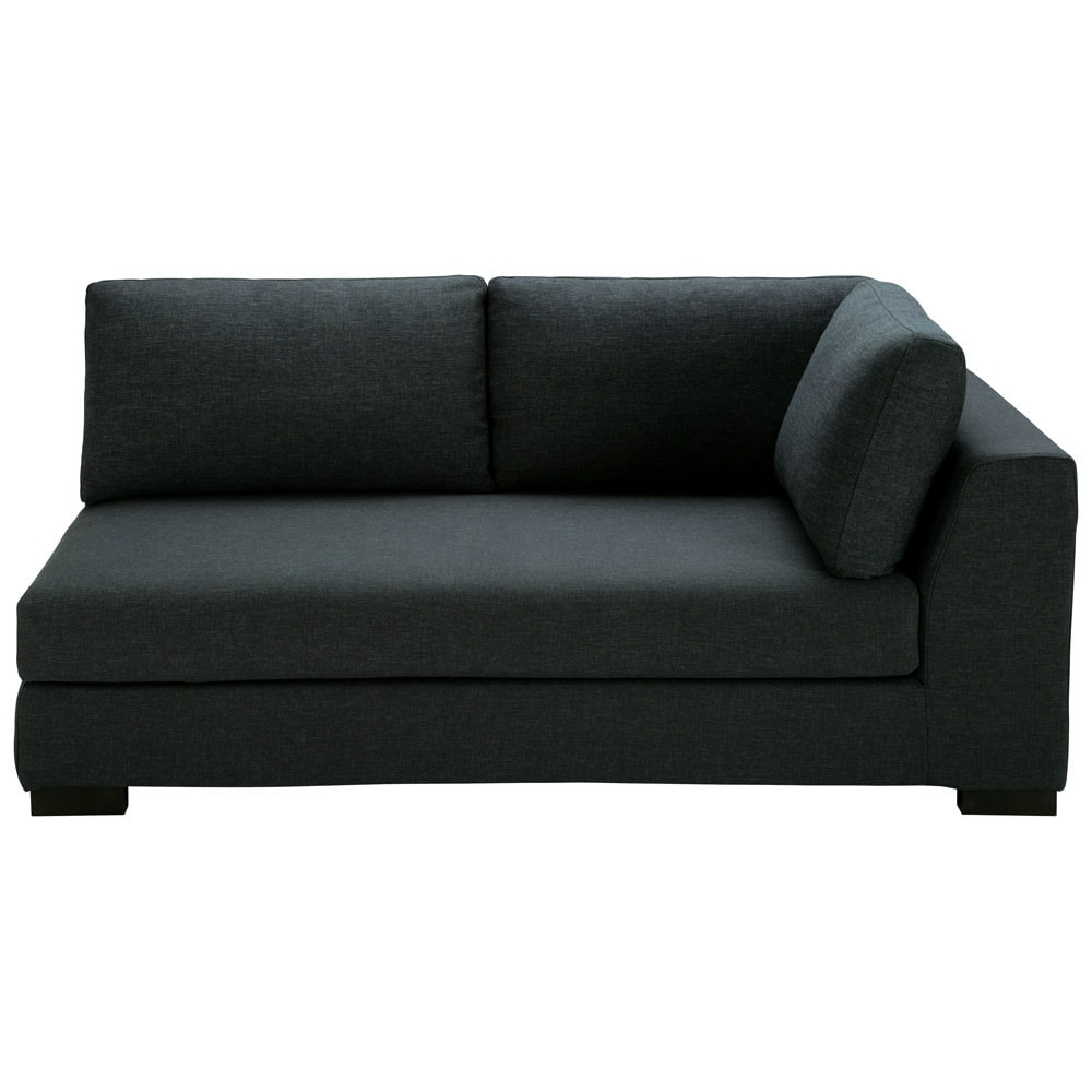 modulares sofa mit rechter armlehne aus stoff monet anthrazit terence maisons du monde. Black Bedroom Furniture Sets. Home Design Ideas
