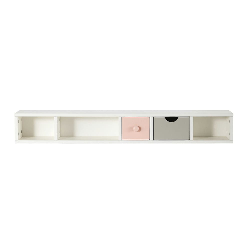 module de rangement pour bureau en bois blanc l 110 cm blush maisons du monde. Black Bedroom Furniture Sets. Home Design Ideas