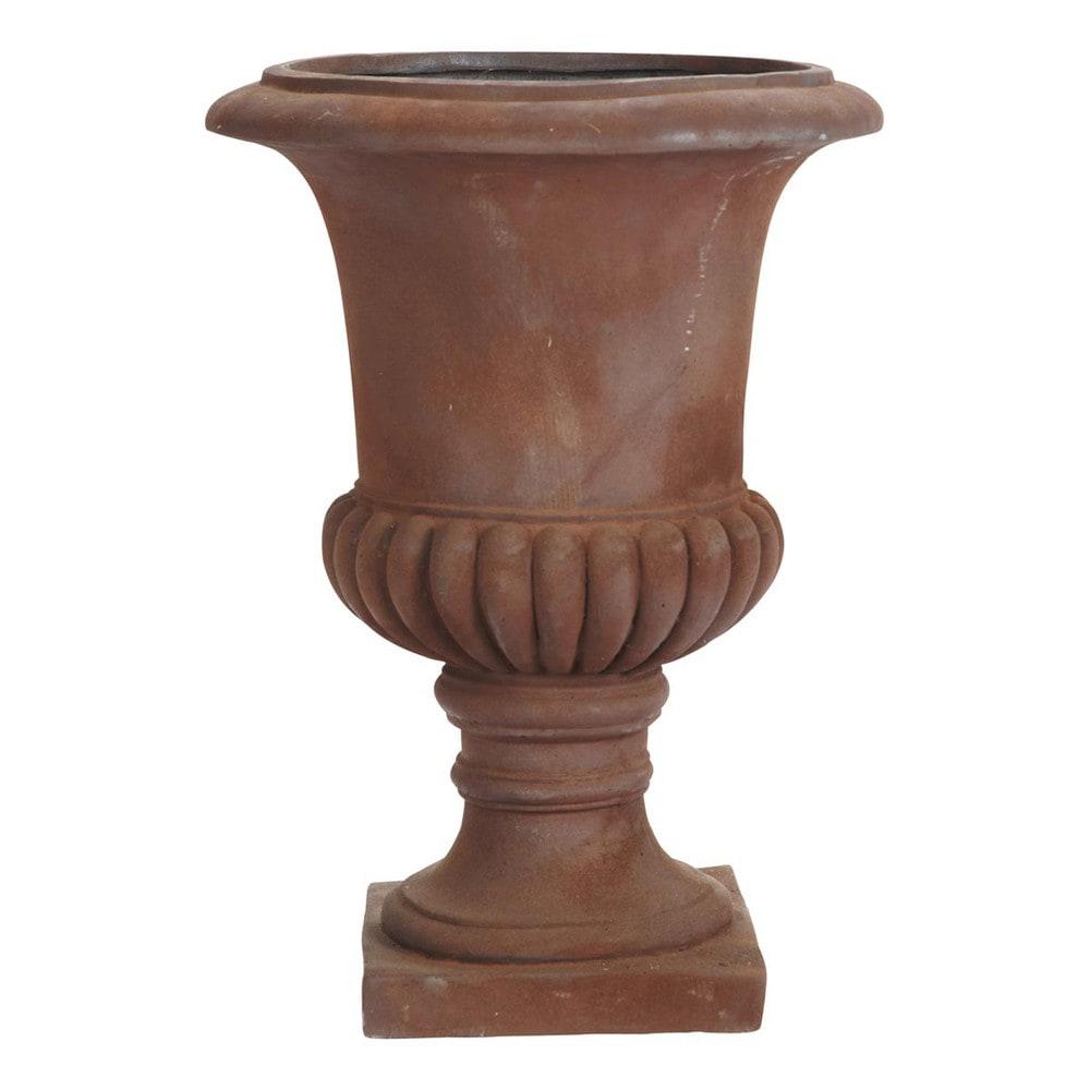 moliere rust look cement garden urn h 76cm maisons du monde. Black Bedroom Furniture Sets. Home Design Ideas