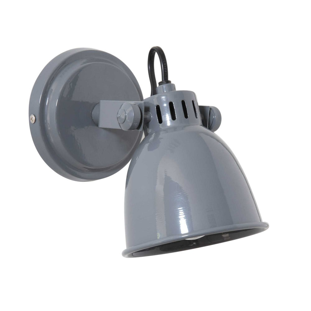 MONTGARDIN grey metal wall lamp H 17 cm Maisons du Monde