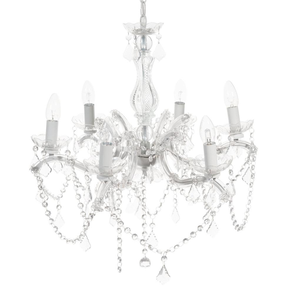 Montgomery metal 6 branch chandelier in white d 57cm maisons du monde - Chandelier maison du monde ...