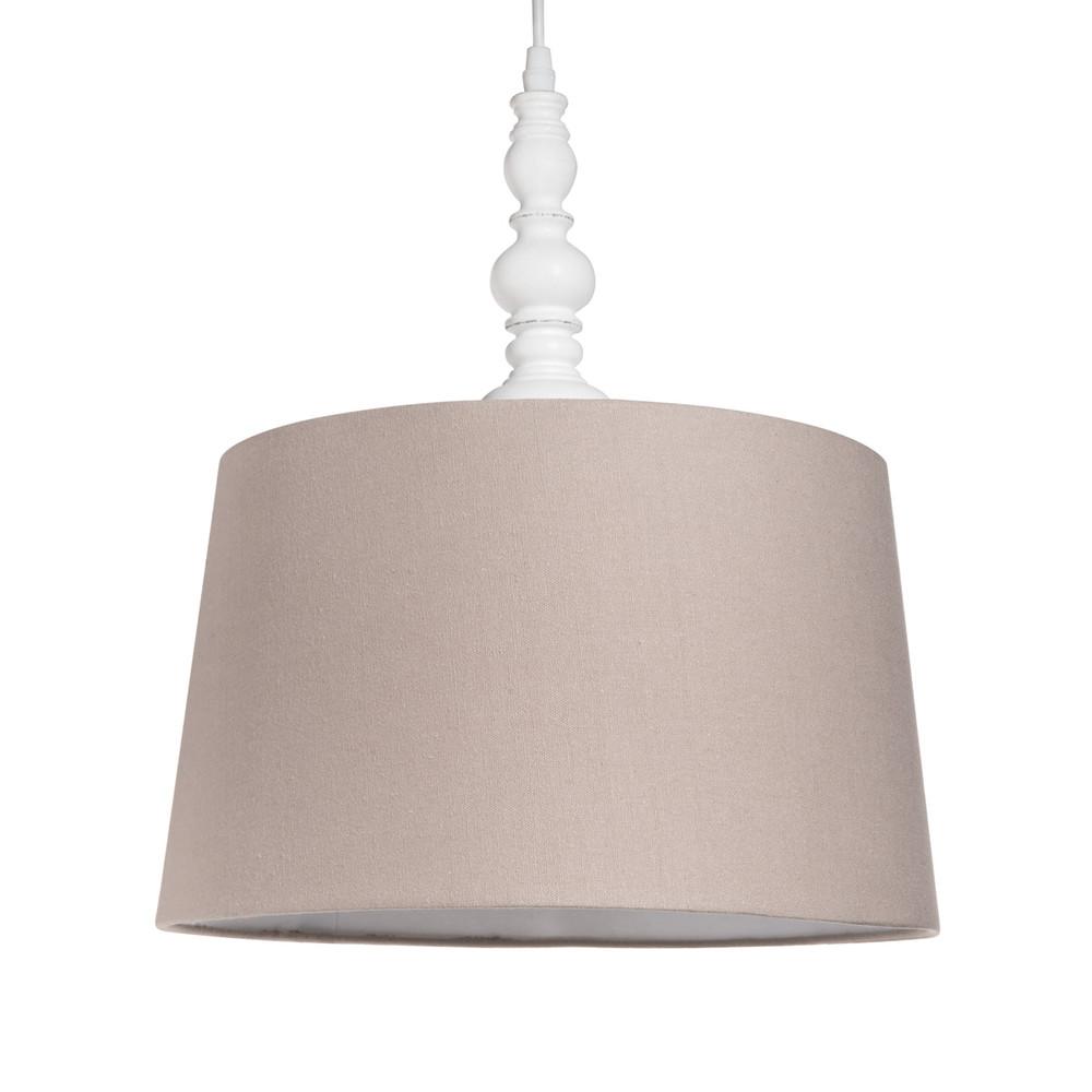 MONTLIMART Wood And Fabric Ceiling Light D 30cm Maisons Du Monde