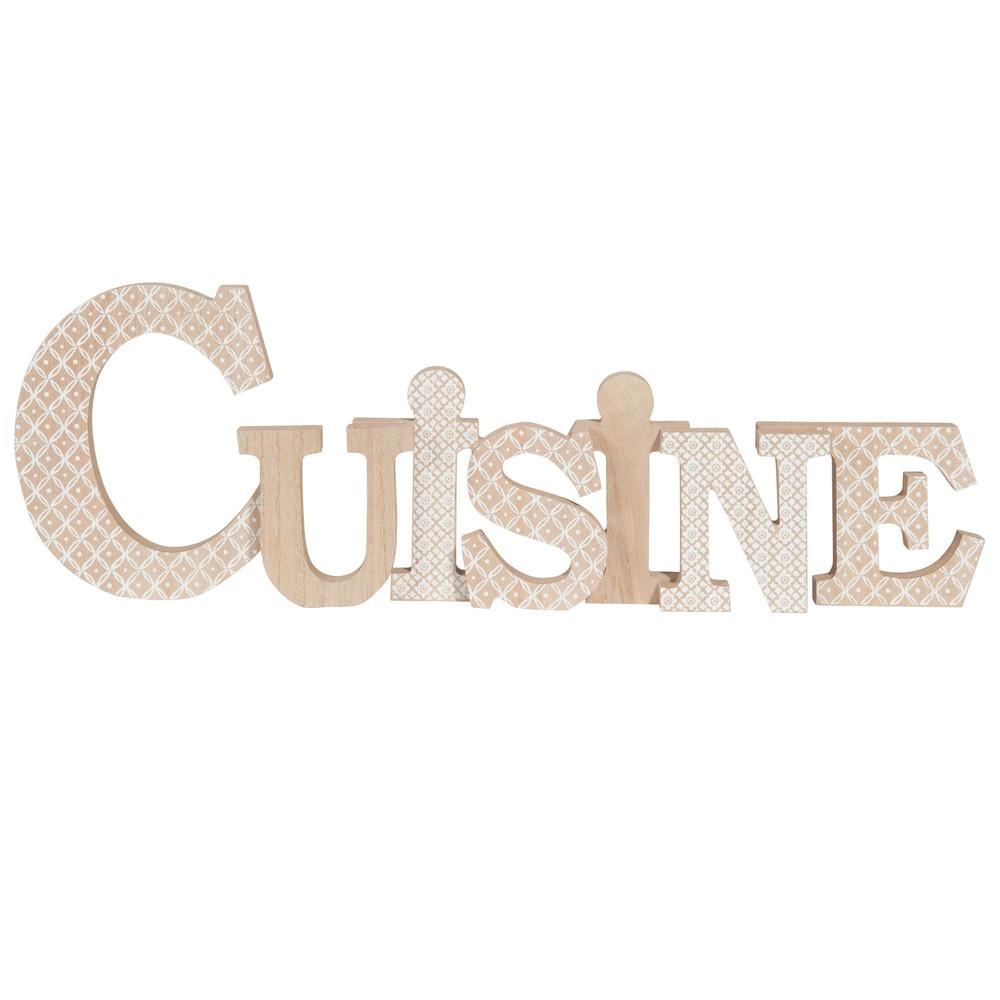 Mot d co motifs blancs 55x18cm cuisine maisons du monde - Mot cuisine deco ...