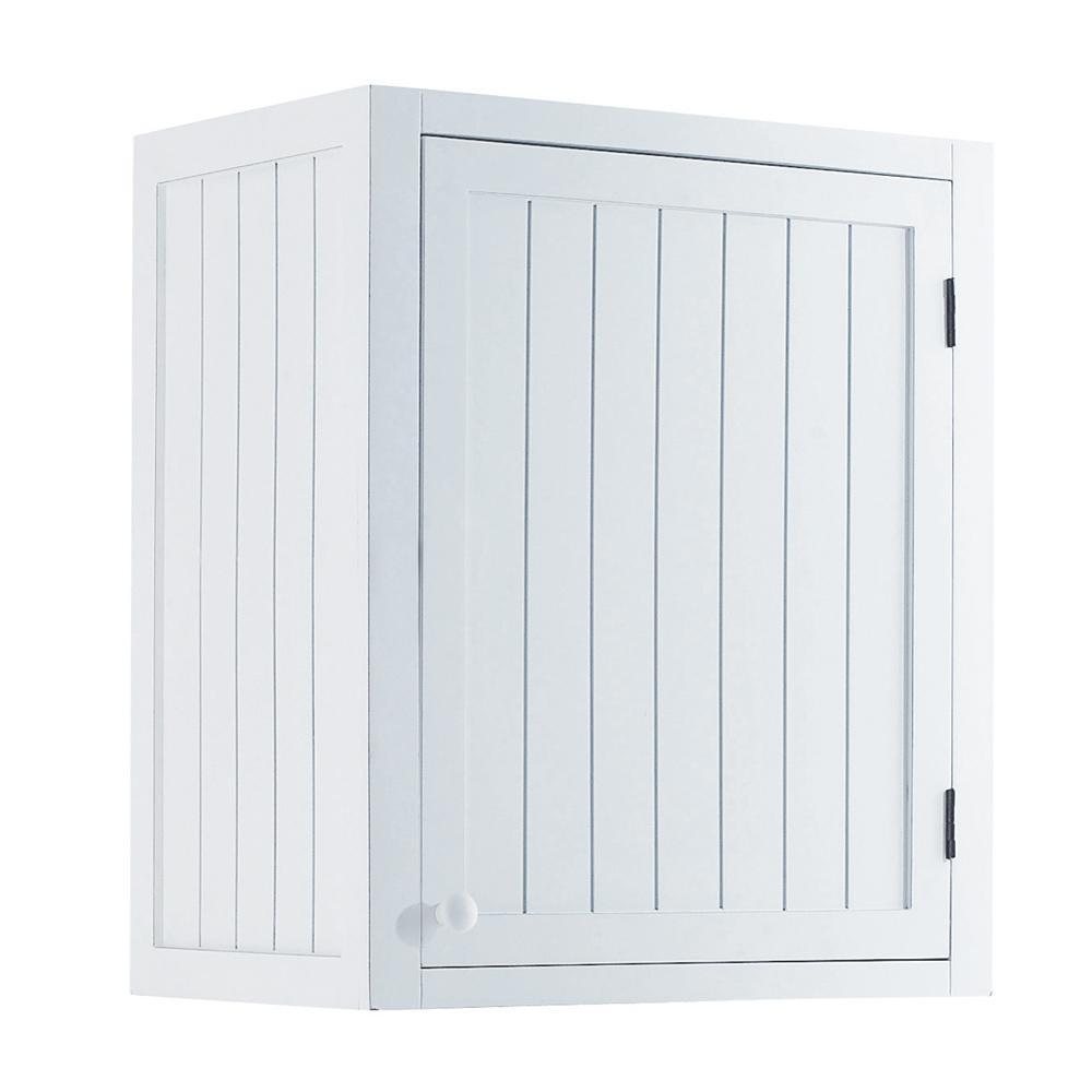 Mueble alto de cocina blanco de madera apertura izquierda for Muebles de cocina 60 cm