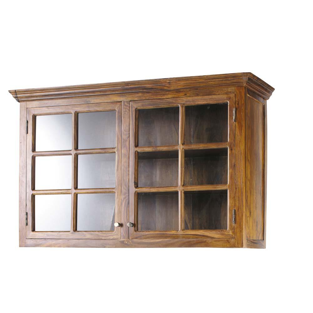 Mueble alto de cocina de madera maciza de palo rosa an for Mueble 50 cm alto