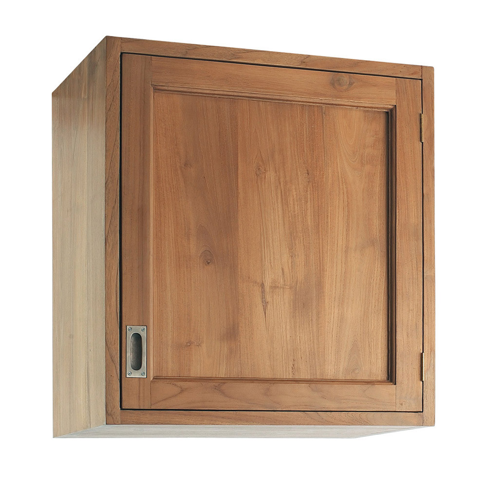 Mueble alto de cocina de teca maciza apertura izquierda an for Mueble cocina 60 x 30