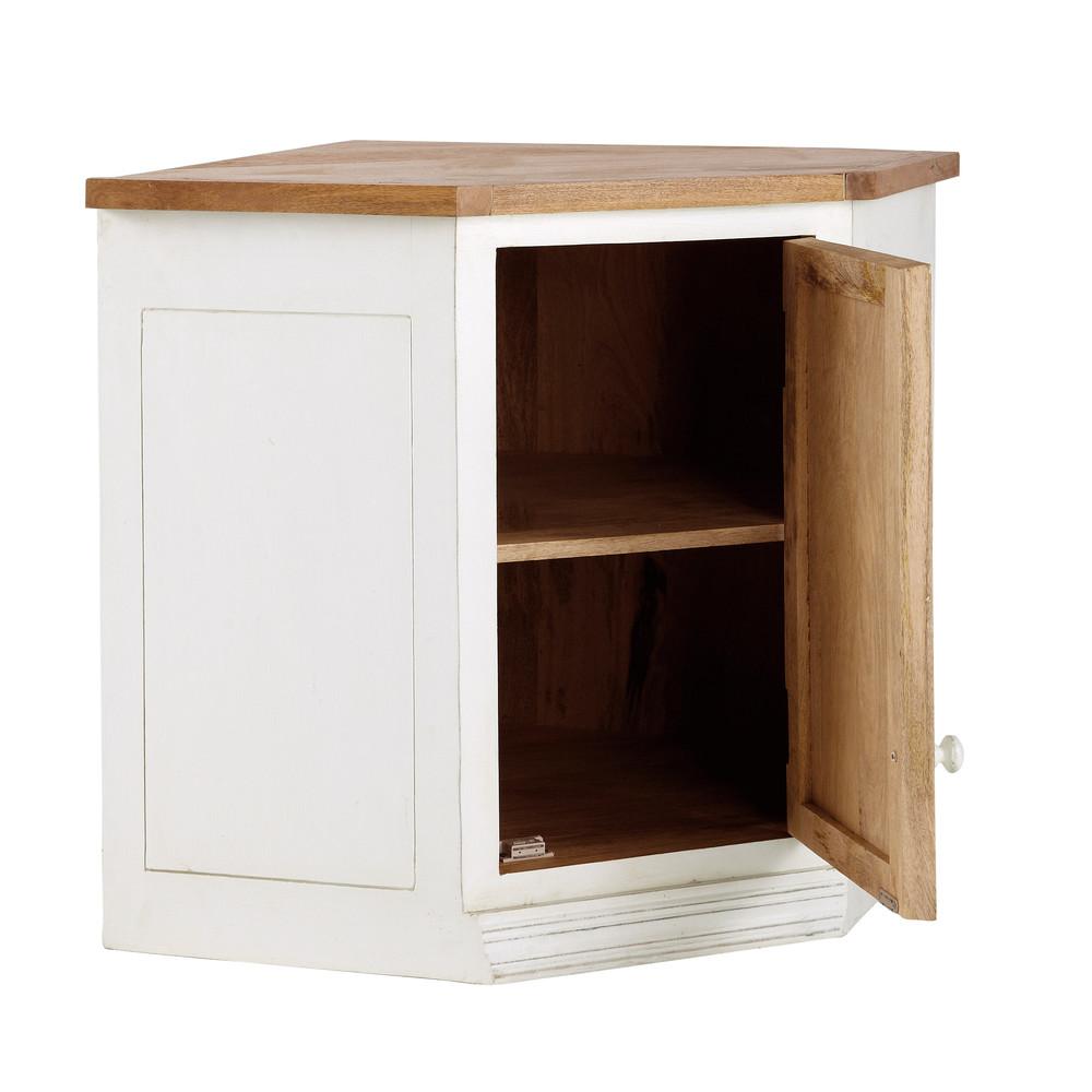 Mueble alto de cocina esquinero de madera de mango color for Mueble esquinero cocina