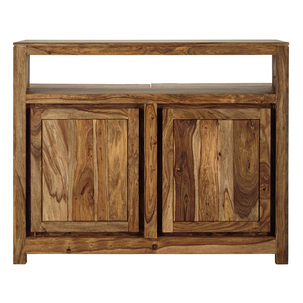 Mueble bar de madera maciza de sisu an 130 cm stockholm for Mueble bar madera