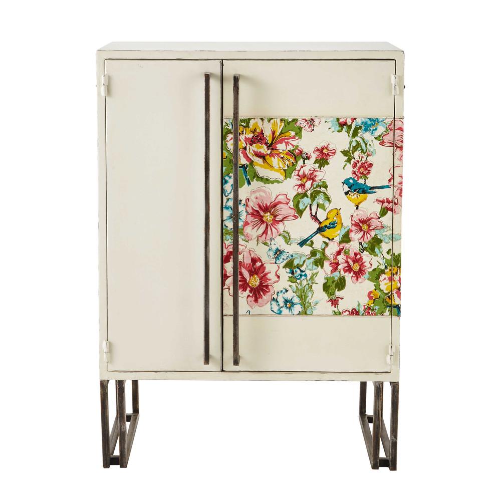 Mueble con puertas de metal blanco an 79 cm birdy for Mueble 6 puertas