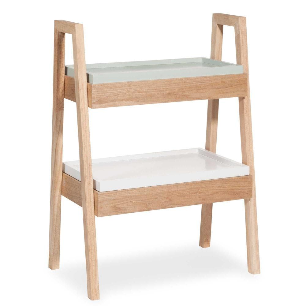 de almacenaje › Mueble de imitación a madera verde y blanco TOLUCA