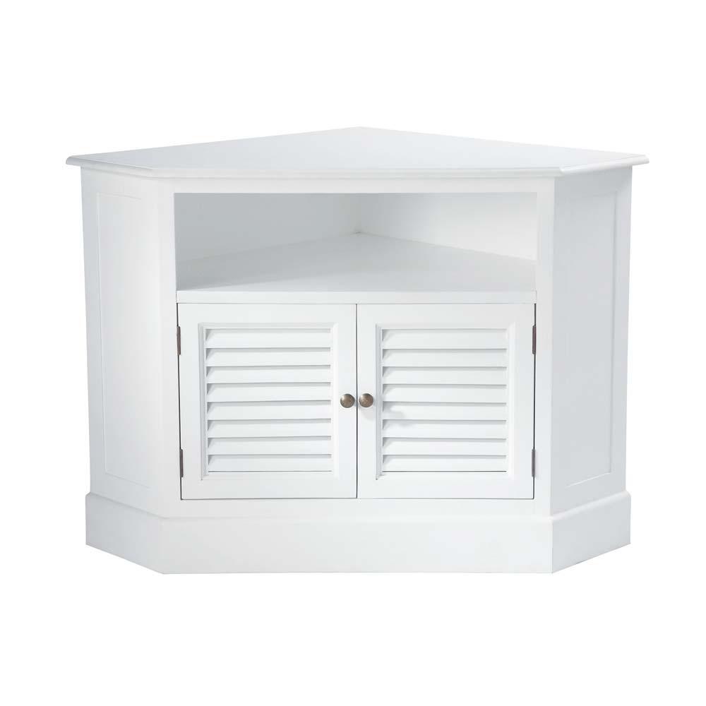 Adesivos De Parede Onde Comprar Rj ~ Mueble de TV blanco esquinero de madera de An 75 cm