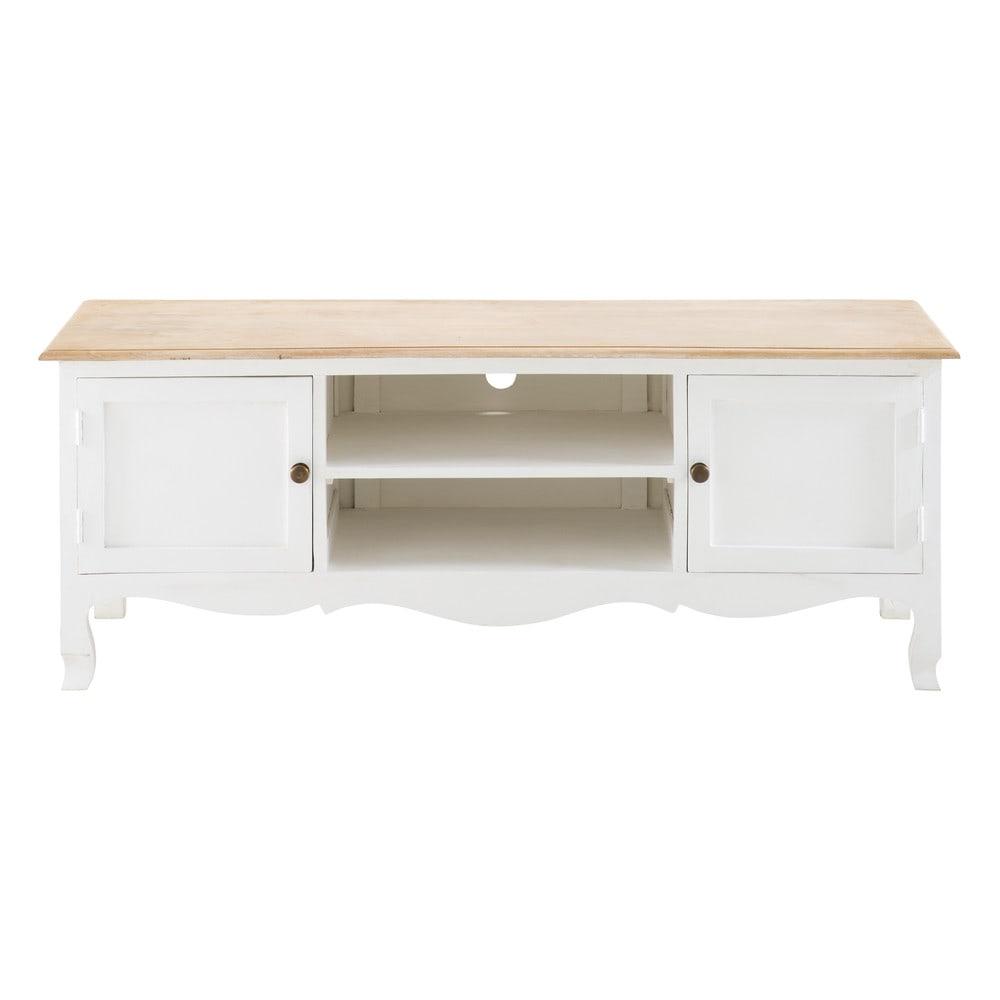 Mueble de tv con 2 puertas de mango macizo blanco for Mueble 6 puertas