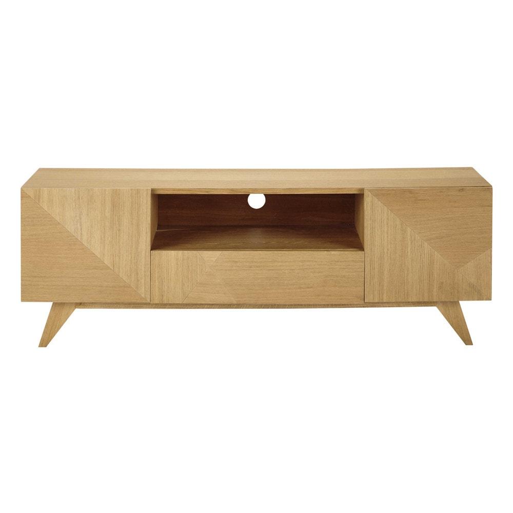 Mueble de tv de madera an 150 cm origami maisons du monde - Mueble tv maison du monde ...