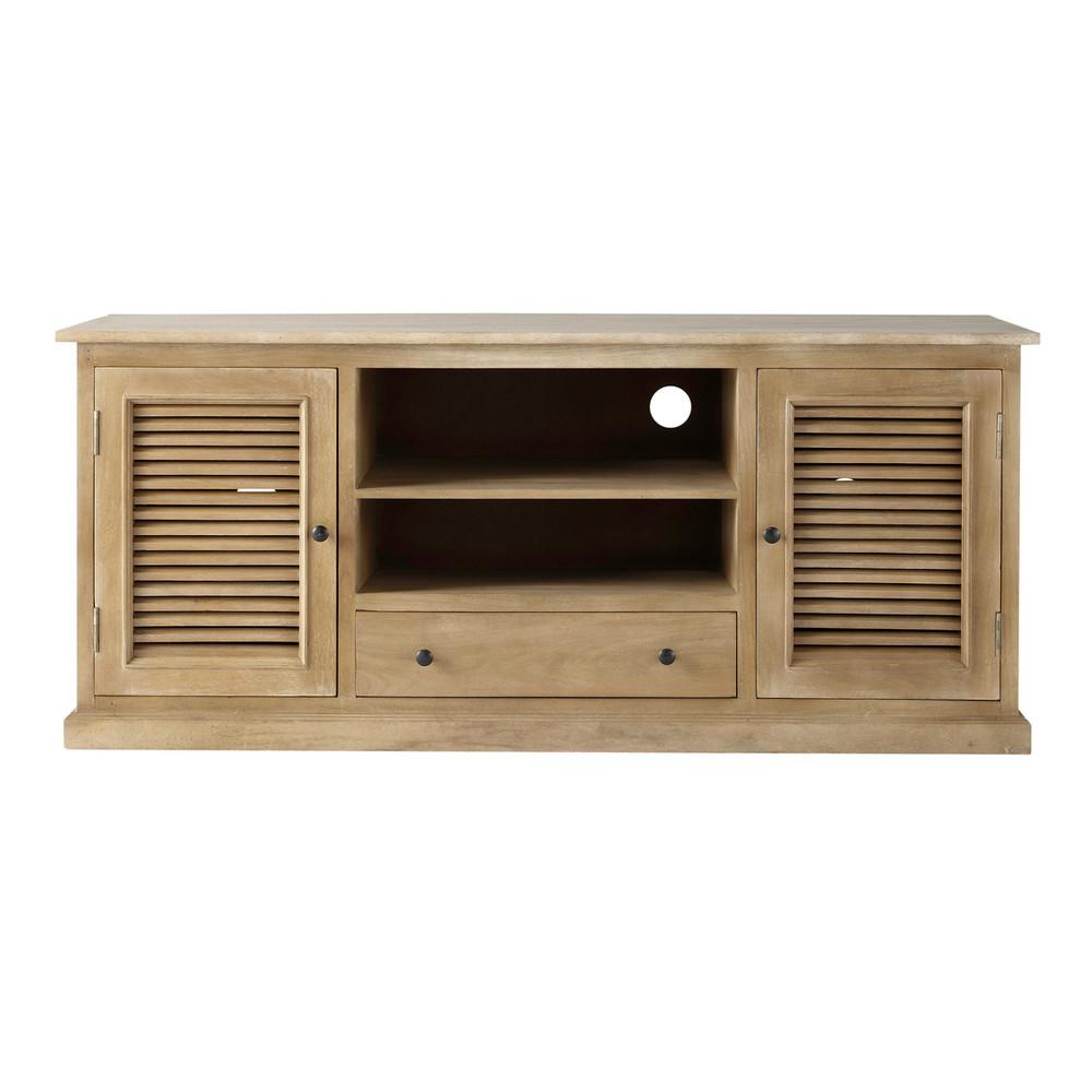 Mueble de tv de mango an 140 cm persiennes maisons du monde - Mueble tv maison du monde ...