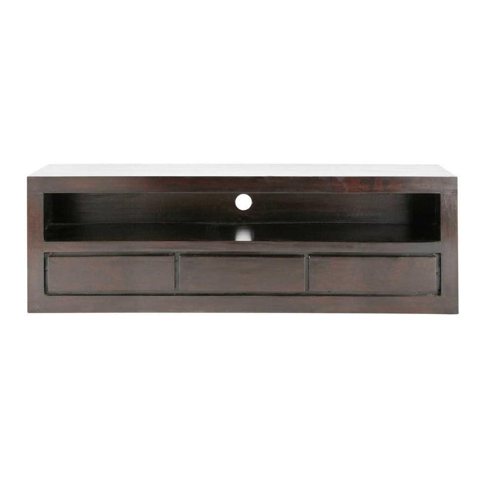 muebles 2014 › Mueble de TV de mango macizo color wengué An 160 cm