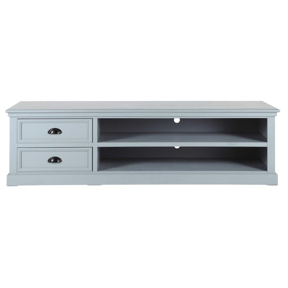 › Muebles de TV › Mueble de TV gris de madera An 160 cm NEWPORT