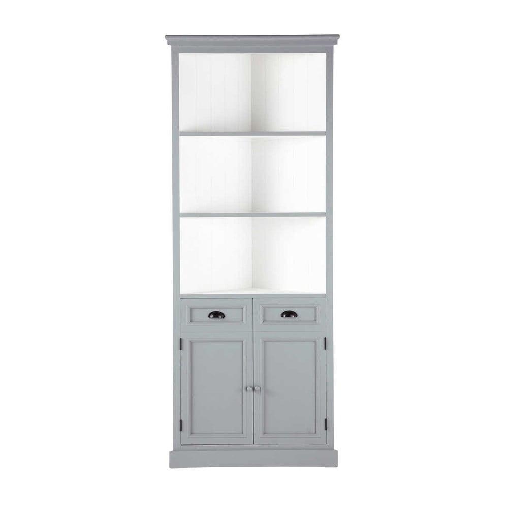 mueble esquinero de madera gris an cm