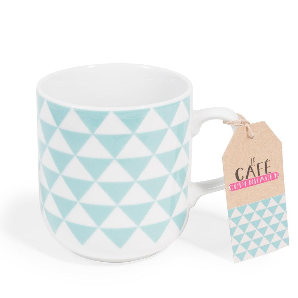 mug en porcelaine bleu copenhagen maisons du monde. Black Bedroom Furniture Sets. Home Design Ideas