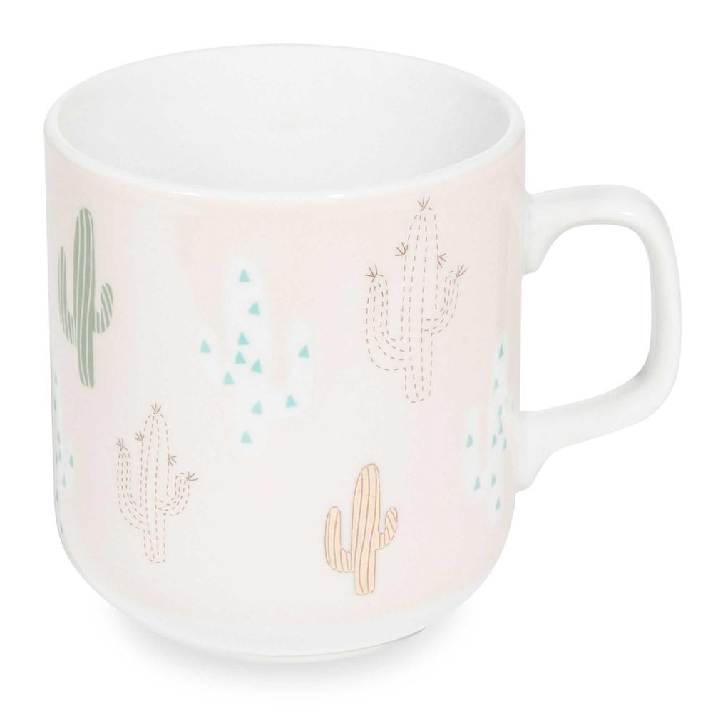 latest mug en porcelaine rose cactus with tasse maison du monde. Black Bedroom Furniture Sets. Home Design Ideas