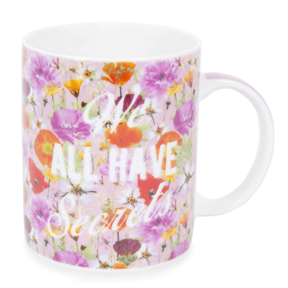 mug en porcelaine rose motifs fleurs secrets maisons du monde. Black Bedroom Furniture Sets. Home Design Ideas