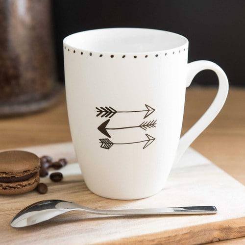Mug motif flèche en porcelaine NAGAWIKA