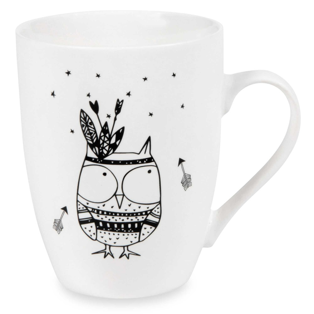 mug motif hibou en porcelaine nagawika maisons du monde. Black Bedroom Furniture Sets. Home Design Ideas