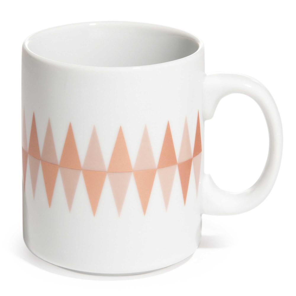 mug motif losanges en porcelaine copper maisons du monde. Black Bedroom Furniture Sets. Home Design Ideas