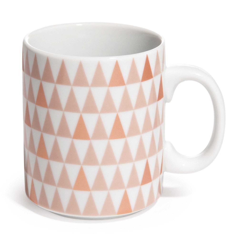 mug motif triangles en porcelaine copper maisons du monde. Black Bedroom Furniture Sets. Home Design Ideas