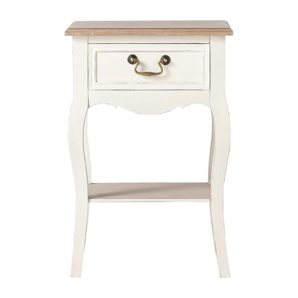 Nachttisch mit schublade  Nachttisch 1 Schublade, cremefarben Léontine | Maisons du Monde