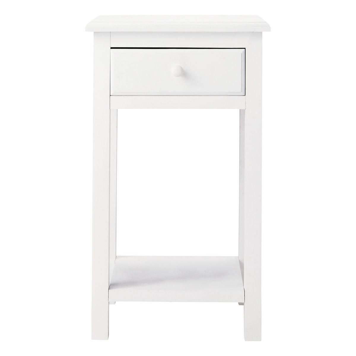 Nachttisch Aus Holz Mit Schublade B 35 Cm Weiß Pastel Maisons Du Monde