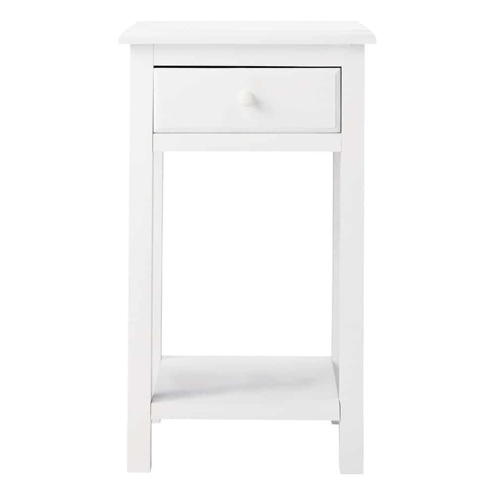 nachttisch aus holz mit schublade b 35 cm wei pastel. Black Bedroom Furniture Sets. Home Design Ideas