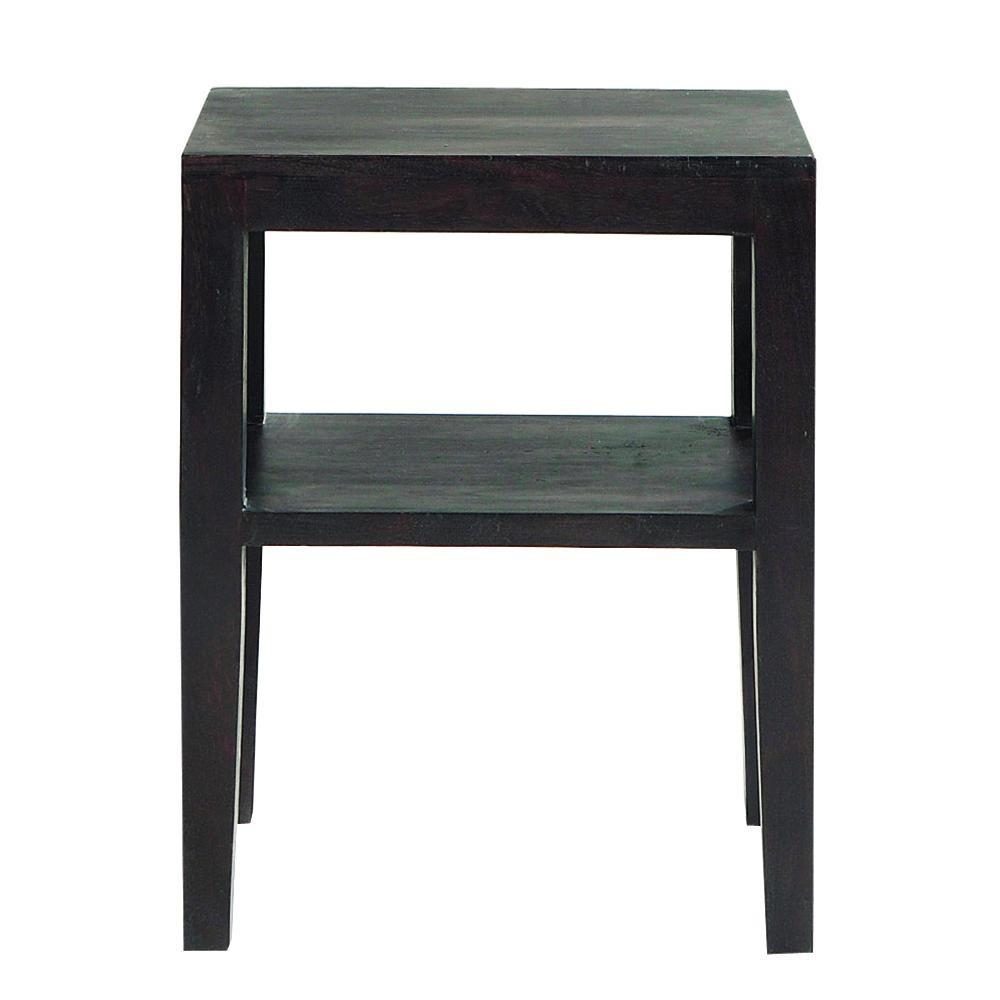 nachttisch aus massivem akazienholz b 45 cm in wenge. Black Bedroom Furniture Sets. Home Design Ideas