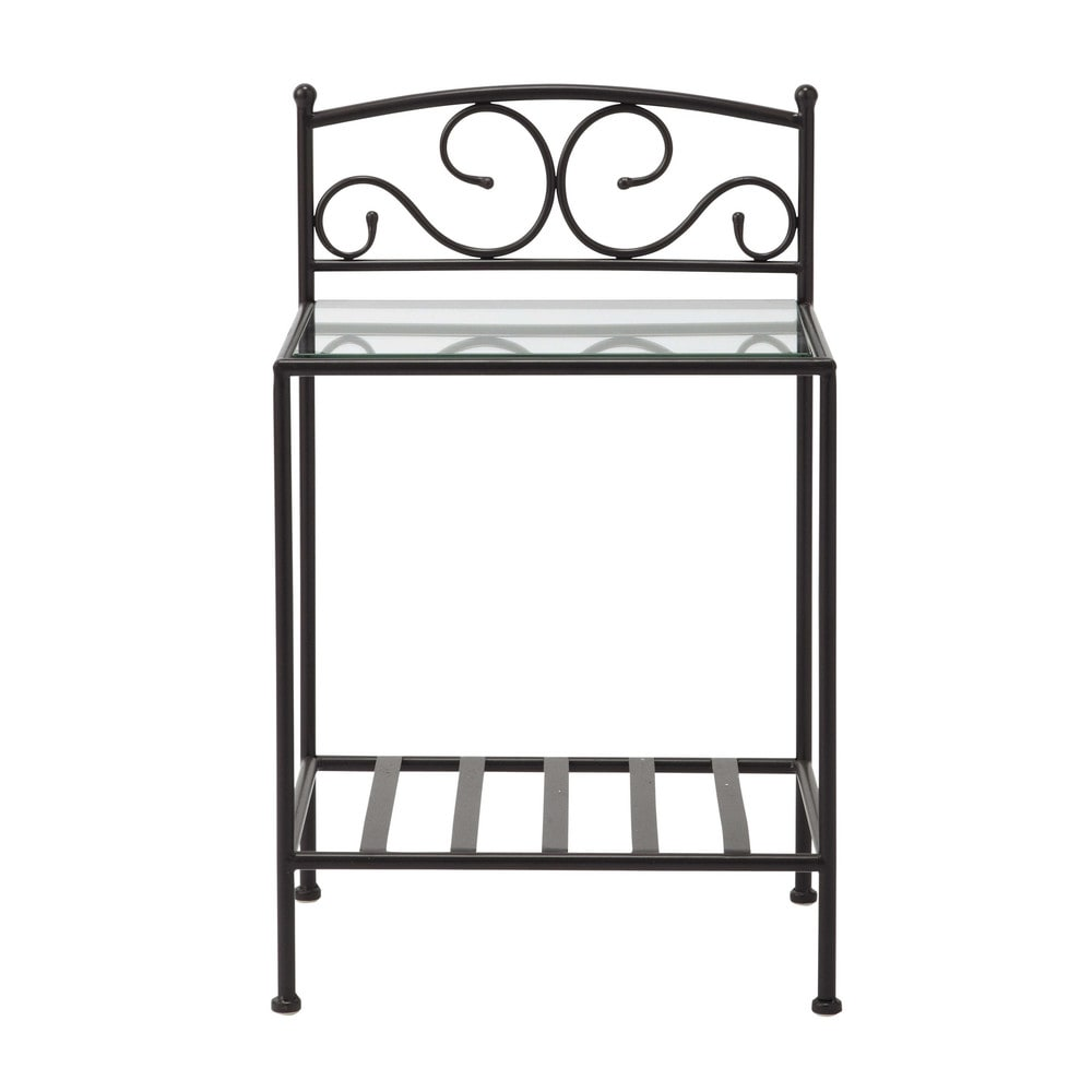 nachttisch aus metall b 40 braun sheherazad maisons du monde. Black Bedroom Furniture Sets. Home Design Ideas