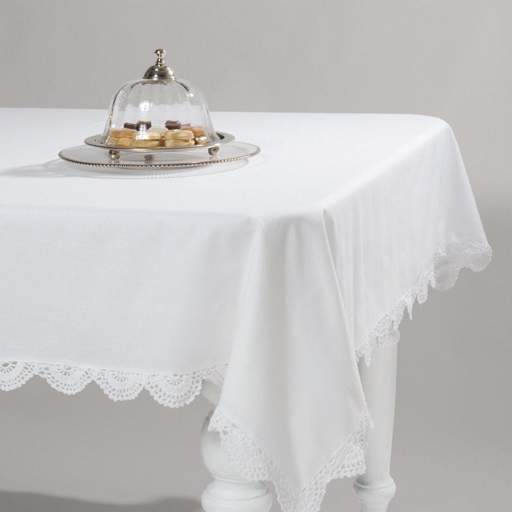 nappe crochet blanc maisons du monde. Black Bedroom Furniture Sets. Home Design Ideas