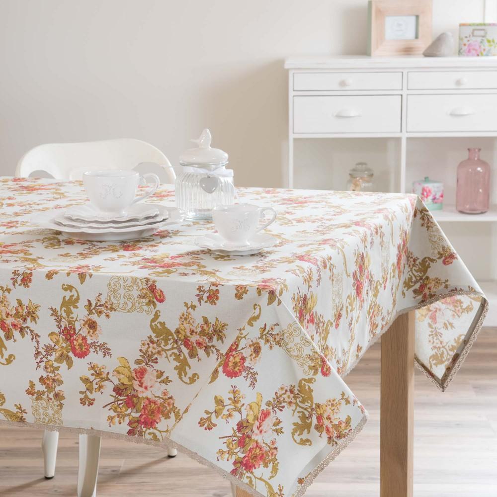 nappe en coton 170 x 170 cm flora maisons du monde. Black Bedroom Furniture Sets. Home Design Ideas