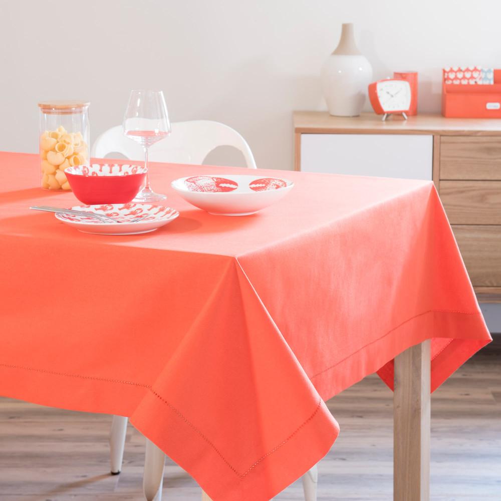nappe en coton corail 150 x 250 cm maisons du monde. Black Bedroom Furniture Sets. Home Design Ideas