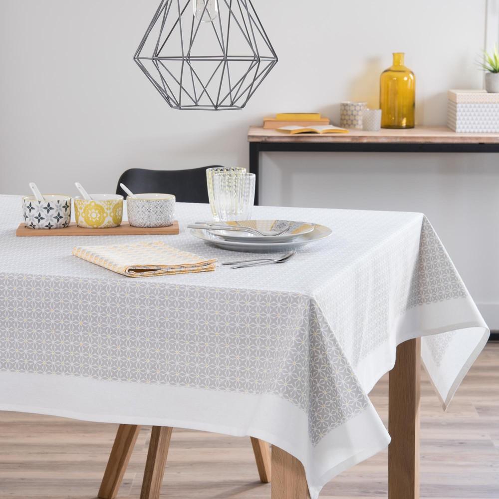 nappe en coton gris 150 x 250 cm perolera maisons du monde. Black Bedroom Furniture Sets. Home Design Ideas