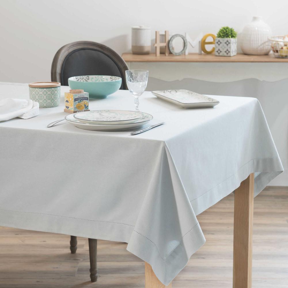 nappe en coton gris 150x250cm opale maisons du monde. Black Bedroom Furniture Sets. Home Design Ideas