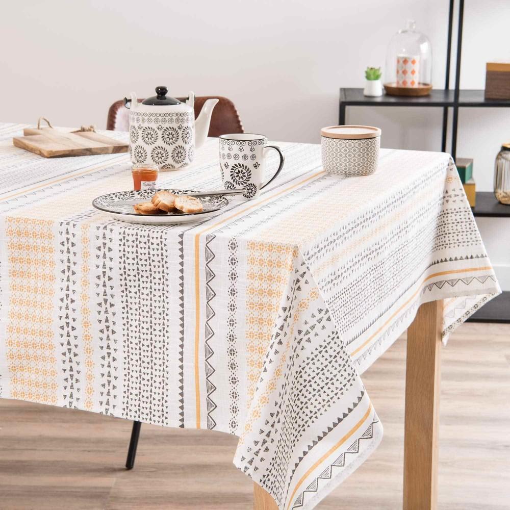 nappe en coton imprim 150x250cm guayama maisons du monde. Black Bedroom Furniture Sets. Home Design Ideas