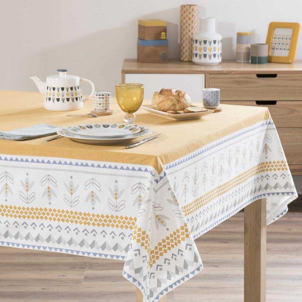 nappe en coton jaune 150 x 250 cm irving maisons du monde. Black Bedroom Furniture Sets. Home Design Ideas
