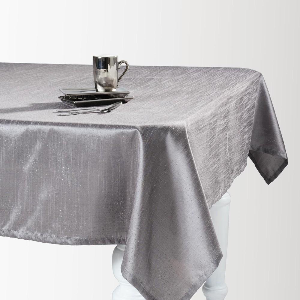 Nappe en tissu grise 140 x 350 cm lido maisons du monde for Maison du monde chemin de table