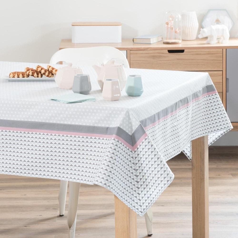 nappe enduite carr e en coton 150 x 150 cm emma maisons. Black Bedroom Furniture Sets. Home Design Ideas
