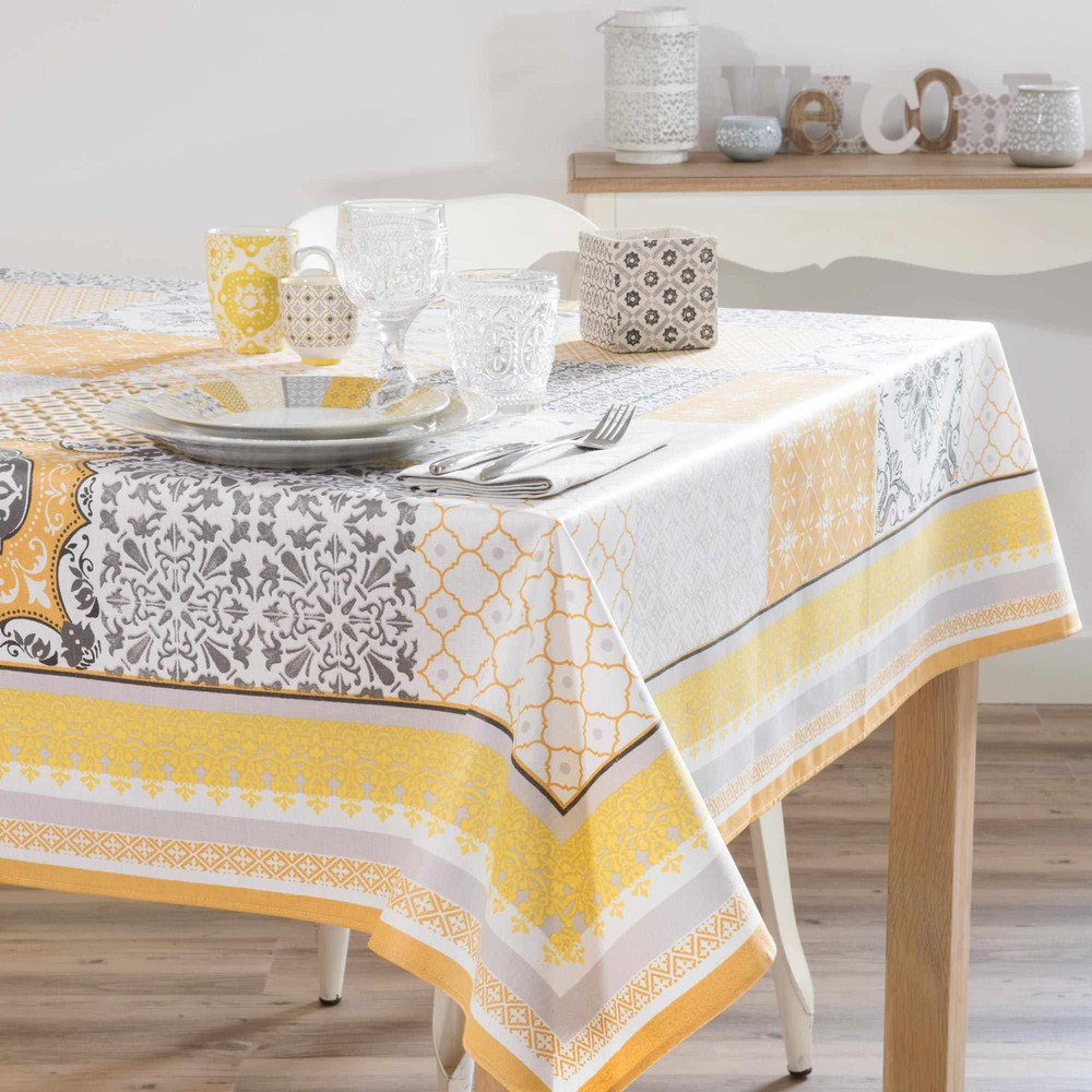 nappe enduite carr e jaune 170 x 170 cm alicante maisons. Black Bedroom Furniture Sets. Home Design Ideas