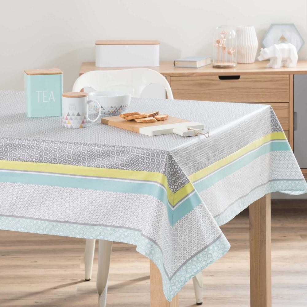 Nappe enduite en coton 150 x 250 cm amy maisons du monde for Set de table coton