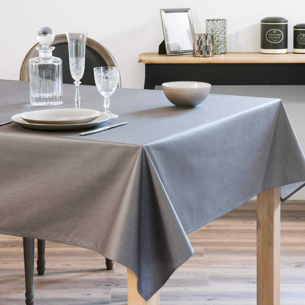 nappe enduite gris anthracite 140 x 250 cm mirage maisons du monde. Black Bedroom Furniture Sets. Home Design Ideas